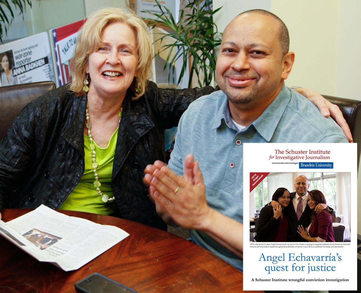 Florence Graves with Angel Echavarría, exonerated after serving 21 years for a crime he didn't commit.