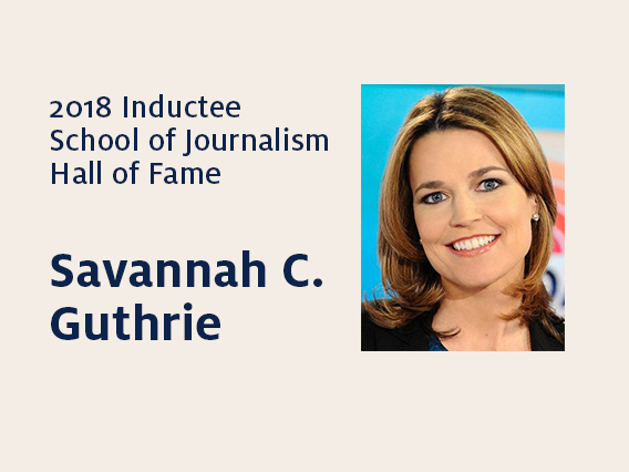 Savannah C. Guthrie: 2018 Hall of Fame inductee