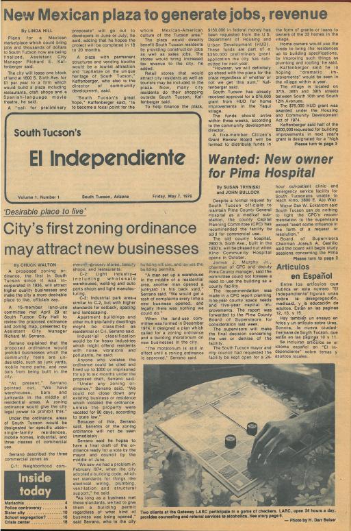 Image of print version of El Independiente