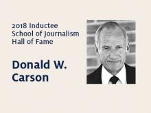 Donald W. Carson: 2018 Hall of Fame inductee