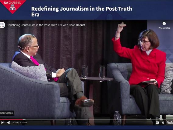 Prof. Nancy Sharkey interviews NY Times Editor Dean Baquet.