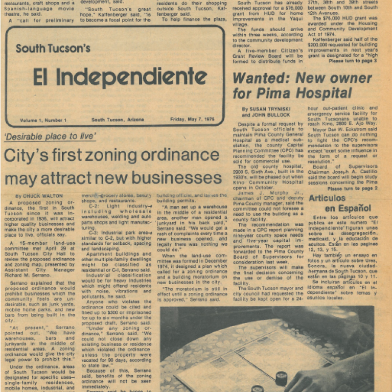 Image of print version of El Independiente