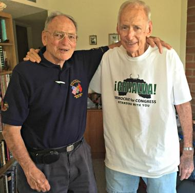 Former directors George Ridge (left) and Don Carson