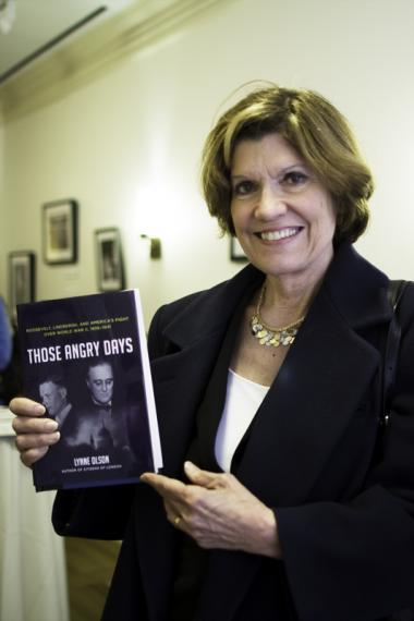 "Lynne Olson, with her book, ""Those Angry Days."""