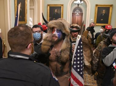 Man confronting officer inside Capitol
