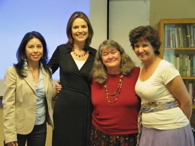 From left, Celeste González de Bustamante, Savannah Guthrie, Jacqueline Sharkey and Kate Harrison