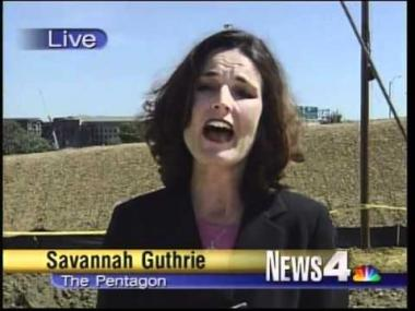 Guthrie in her earlier days as a Washington reporter.