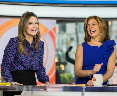 "Guthrie with her ""Today"" co-anchor, Hoda Kotb."