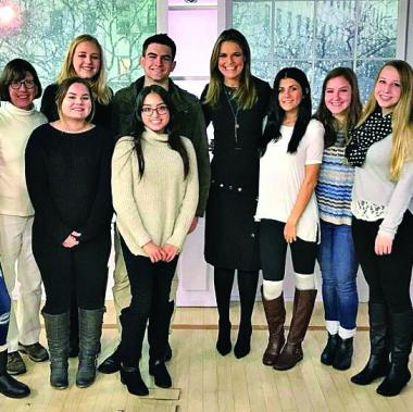 "Savannah Guthrie meets with students from Prof. Nancy Sharkey's class at the ""Today"" show"
